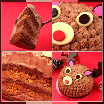 トナカイのショコラケーキ