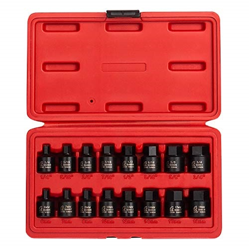 "Six-Point Metric Hand Socket Set GS-412M with Socket Holder New 12 Pcs 1//2/"" Dr"
