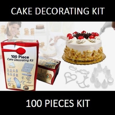 Cake Decorating Kit Of The Month : Qoo10 - 100 Piece Cake Decorating Kit: Create Beautifully ...