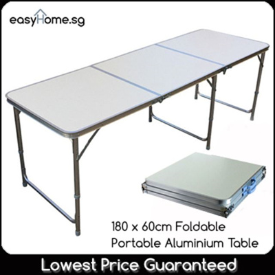 Qoo10 120cm x 60cm 180cm x 60cm portable foldable for Deco table multicolore