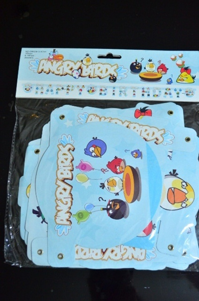 Qoo10 2 meters Happy Birthday Angry Birds theme Simple Big