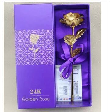 Wedding Anniversary Gifts Online Singapore : Qoo1024k rose gold wedding anniversary gift gold ornaments Golden ...