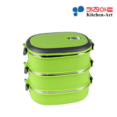 qoo10 3 layers stainless steel sealing rectangle convenient bento lunch box kitchen dining. Black Bedroom Furniture Sets. Home Design Ideas