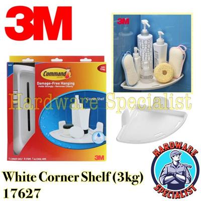 Qoo10 3m command bathroom organization corner shelf for Bathroom ideas 3m x 3m