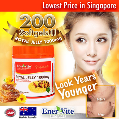 Qoo10 - 🔥6 Months Supply🔥 Enervite Royal Jelly 1000mg🔥200 ...