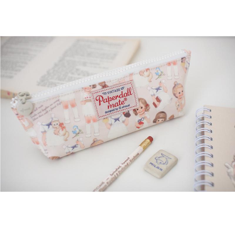 Home & Garden Storage Bags Hot Cute Vivid Vintage Soft Plush Pencil Pen Case Novelty Makeup Cosmetic Pouch Zipper Bag F901