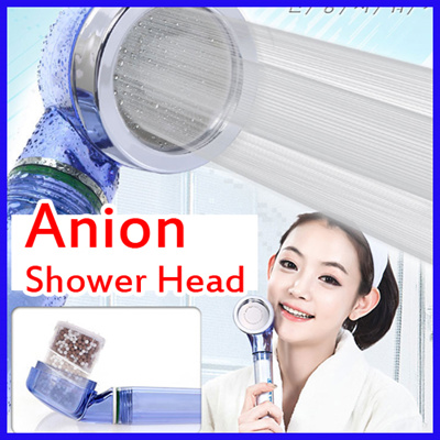 qoo10 anion shower head rust removal filter anion healthy showerhead show. Black Bedroom Furniture Sets. Home Design Ideas