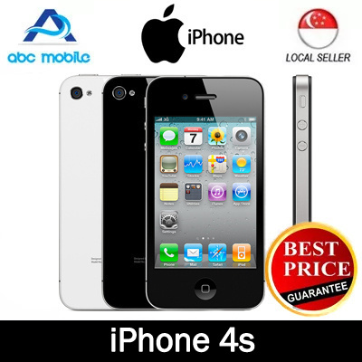 qoo10 factory refurbished apple iphone 4s 16gb rom. Black Bedroom Furniture Sets. Home Design Ideas