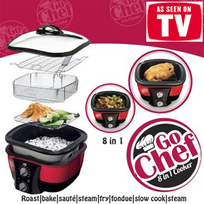 qoo10 as seen on tv jml go chef 8 in 1 cooker roast. Black Bedroom Furniture Sets. Home Design Ideas