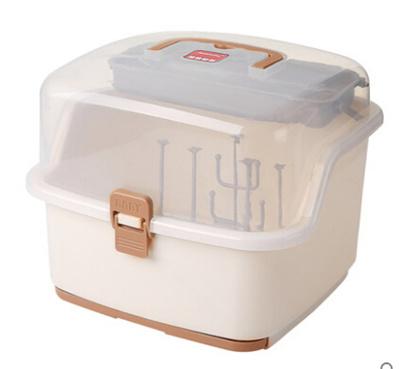 Bon Qoo10 Babe Baby Can Handle Bottle Rack Baby Storage Box