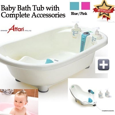 qoo10 baby bath tub with water thermometer inner lying board seat bat baby maternity. Black Bedroom Furniture Sets. Home Design Ideas