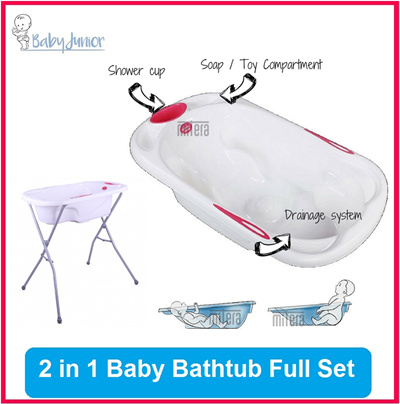 qoo10 baby bathtub 2 in 1 bathtub more support and comfort ergonomic baby maternity. Black Bedroom Furniture Sets. Home Design Ideas