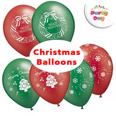 Qoo10 balloon christmas themed balloon bunting banner for Balloon banner decoration
