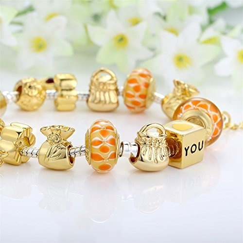 Million Charms 14k Tri-Color Gold Intertwined Love Circle Rings in Yellow White and Rose Charm Pendant 19mm x 19mm