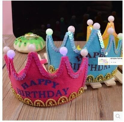 Qoo10 Birthday cake decorated childrens luminous birthday hat