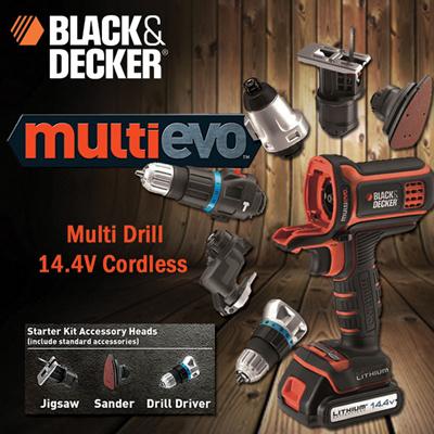Qoo10 black and decker 14 4v cordless multi evo evo143 for Multi outil black et decker