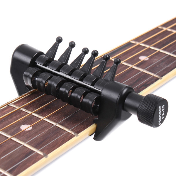 Acoustic Guitar for Minifigures Black Neck and Silver Strings Fits Lego
