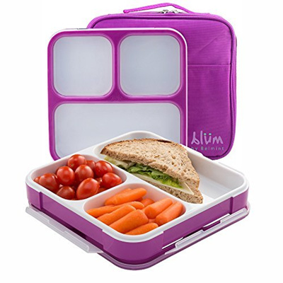 qoo10 blum bento lunch box with insulated bag kitchen. Black Bedroom Furniture Sets. Home Design Ideas