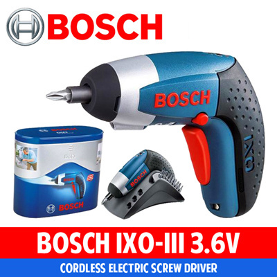 qoo10 bosch 3 6v ixo lll li ion drill 3 6v led light 180rpm home electronics. Black Bedroom Furniture Sets. Home Design Ideas