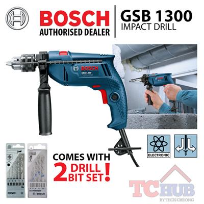 qoo10 bosch gsb 1300 impact drill c s 2 sets drill bit set powerful 550 wat tools. Black Bedroom Furniture Sets. Home Design Ideas
