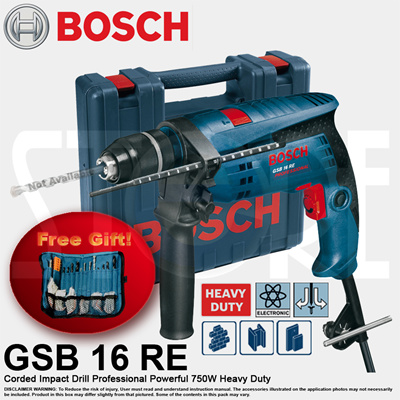 qoo10 bosch gsb 16 re professional impact power drill with 100pcs accessory tools gardening. Black Bedroom Furniture Sets. Home Design Ideas
