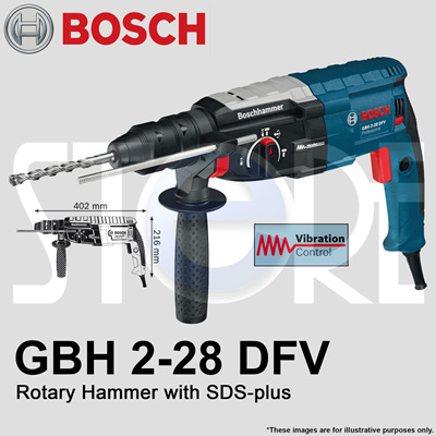 qoo10 bosch gbh 2 28 dfv rotary hammer with sds plus made in germany tools gardening. Black Bedroom Furniture Sets. Home Design Ideas