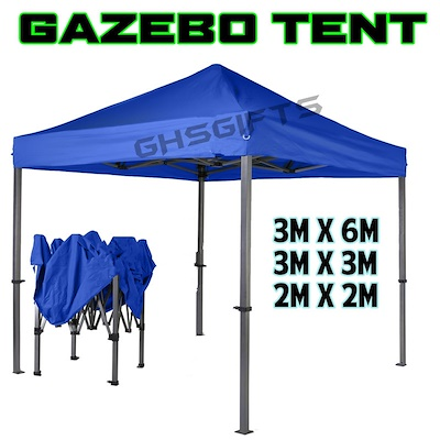 qoo10 brand new gazebo tent canopy 2m x 2m 3m x 3m 3m 3m x 6m sports equipment. Black Bedroom Furniture Sets. Home Design Ideas