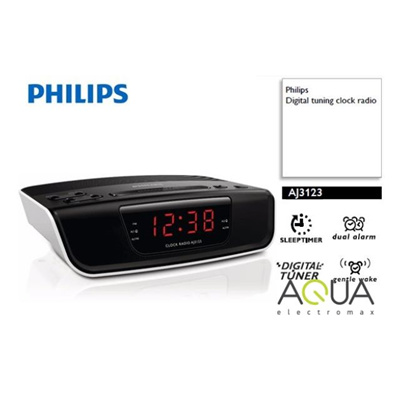 qoo10 brand new philips aj3123 fm digital tuning alarm clock radio local sg home electronics. Black Bedroom Furniture Sets. Home Design Ideas