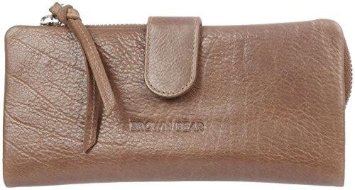 Geldbörse Geldbeutel Portemonnaie Brieftasche Echt Leder Bag Street 992 Braun