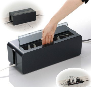 Qoo10 cable box wire organizer box desktop cable Extension cable organizer