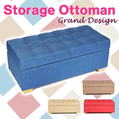 Qoo10 canvas storage stoolwood ottomanstorage box for Storage ottoman singapore