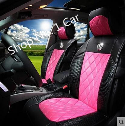 VOLVO S40 V40 FRONT /& REAR CAR SEAT COVER SET 04-12 BLUE WOVEN FABRIC