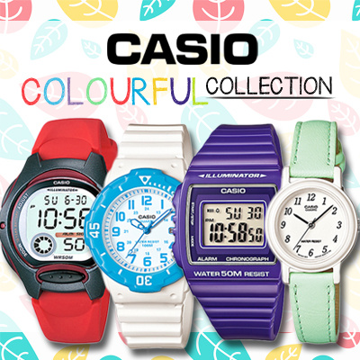 Qoo10 - CASIO Colourful Kids Collection Colorful Genuine ...