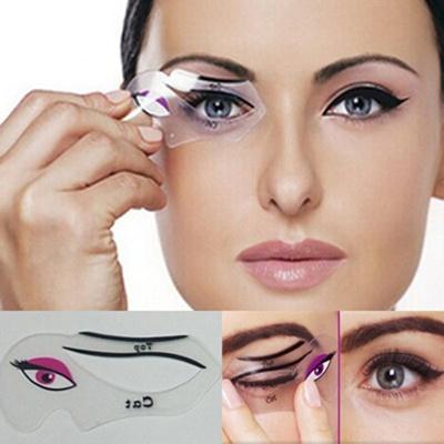 qoo10 cat eye stencils makeup stencil eyeline models template eyeliner card women s clothing. Black Bedroom Furniture Sets. Home Design Ideas