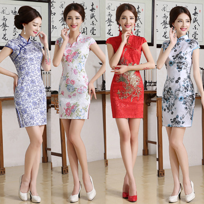 qoo10 chinese new year clothes cheongsam qipao women s clothing. Black Bedroom Furniture Sets. Home Design Ideas