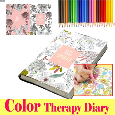 Color Therapy Coloring Book Qoo10 Books Monthly Weekly Daily Planners