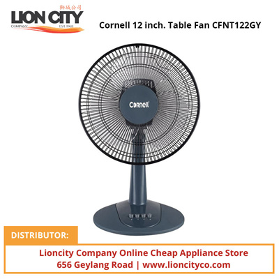 Qoo10 cornell 12 inch table fan cfnt122gy home for 12 inch table fan