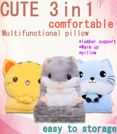 Cute Pillow Warmer : Qoo10 - Cute 3 in1 /cushion/pillow /blanket/hand warmer/ children gift/ kids/ ... : Leisure & Travel