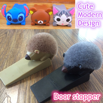 Qoo10 cute hairy porcupine door stopper hello kitty doraemon stitch rilak furniture deco - Cute door stoppers ...