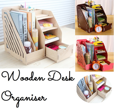 Desk File Organizer Wood