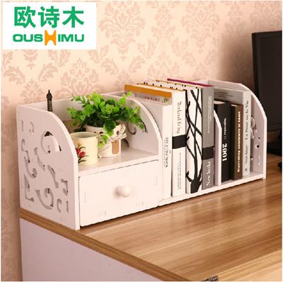 Qoo10 Desktop Small Bookcase Shelf Bookcase Desk Desk Simple Desktop Storage Furniture Deco