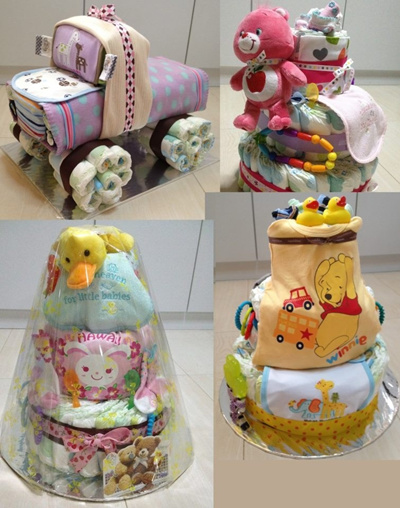 - Diaper cake / Full month celebration present / First birthday gift ...