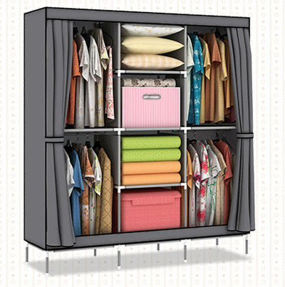 Qoo10 diy oxford canvas wardrobe king size cloth for Diy shelves philippines