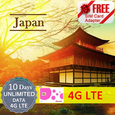 qoo10 japan sim card 10 days new unlimited 4g lte. Black Bedroom Furniture Sets. Home Design Ideas