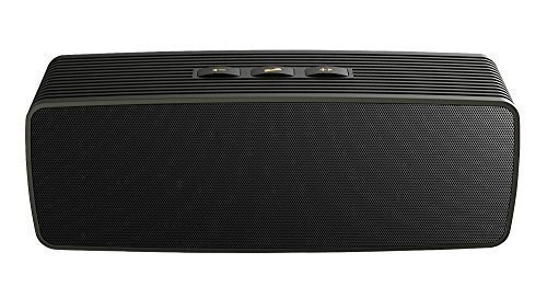 Black grandey AJ81 Deep Bass Surround Stereo Sound Box Touch Control Stereo Wireless Bluetooth Speaker Handsfree with Microphone Support TF Card Play
