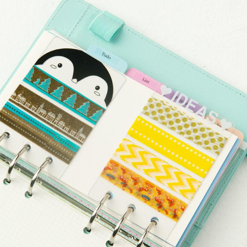 Frosted Planner 6 Holes Loose Leaf Spiral Sketchbook Bullet Accessories Diy Pvc Coil Notebook Bookmark Ruler School & Educational Supplies