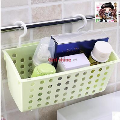 Qoo10 Double Hook Hanging Basket Storage Basket Kitchen Bathroom Storage Bas Furniture Deco