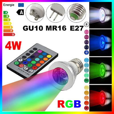 qoo10 e27 gu10 mr16 led 16 color changing rgb magic light bulb lamp 85 265v furniture deco. Black Bedroom Furniture Sets. Home Design Ideas