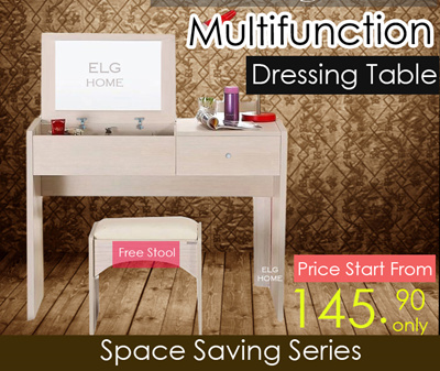Qoo10 hot sales multi function dressing table teak wood for Deco table multicolore