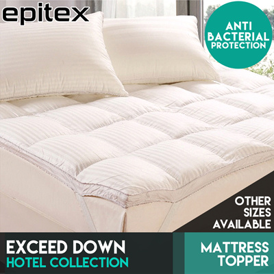 epitex exceed down mattress topper protection 4 sizes